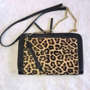 Kate Landry animal print crossbody/clutch purse